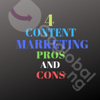 4 Content marketing pros and cons