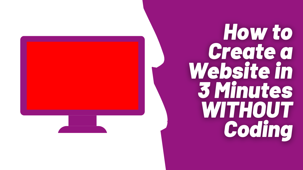 How to create a website in 3 minutes